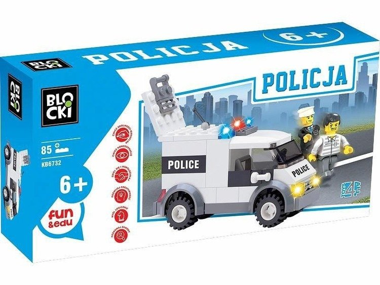 Icom Kb6732 Klocki Blocki Policja Auto Policyjne 85 Elem Sklep