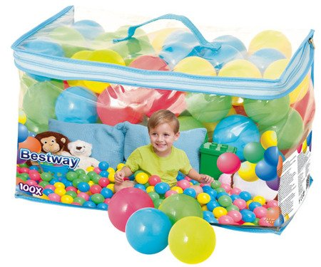 Bestway (52027) Piłeczki do basenu, 100 sztuk