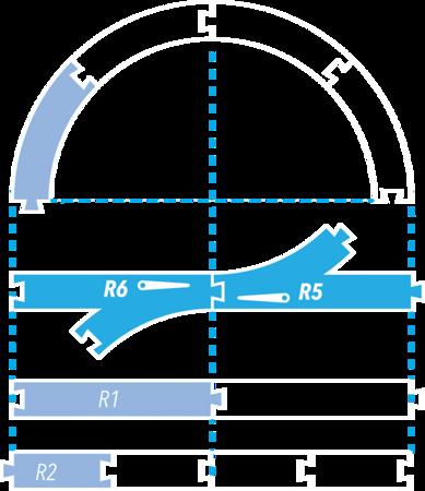 Dumel DU20338: Bending Rail Set / R5-6
