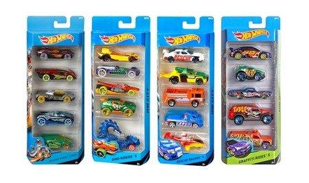 Hot Wheels samochodziki Pięciopak