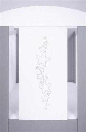 Łóżeczko Drewex Gwiazdki (srebrno/białe)