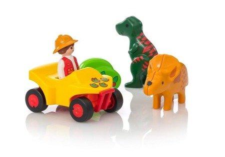 Playmobil Badacz dinozaurów z quadem