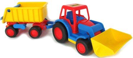 Polesie (9623): Basics traktor- ładowarka z przyczepą