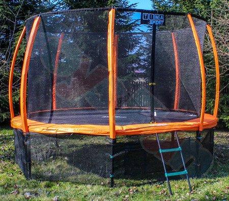 Trampolina 427cm 14ft (ring, drabinka, pokrowiec) pomarańczowa