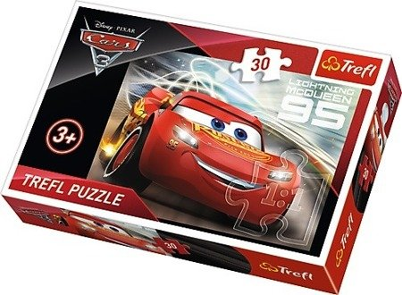 Trefl (18215): Puzzle 30 el. Zygzak McQueen, Cars 3