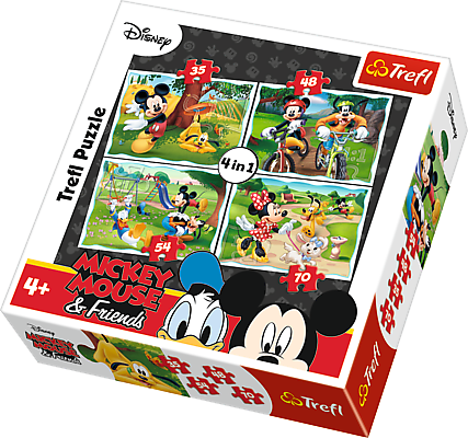 Trefl 34261 Puzzle 4w1 Zabawy w parku
